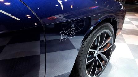 Unique 90 degree mopar logo outlines this unique 392 hand painted badging