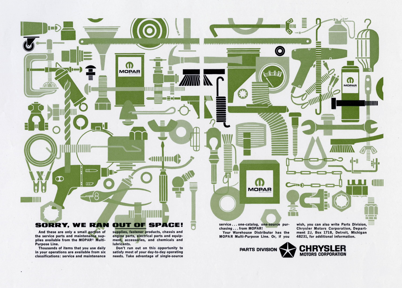 1964 Mopar Ran Out of Space Ad – PetroleYUM com