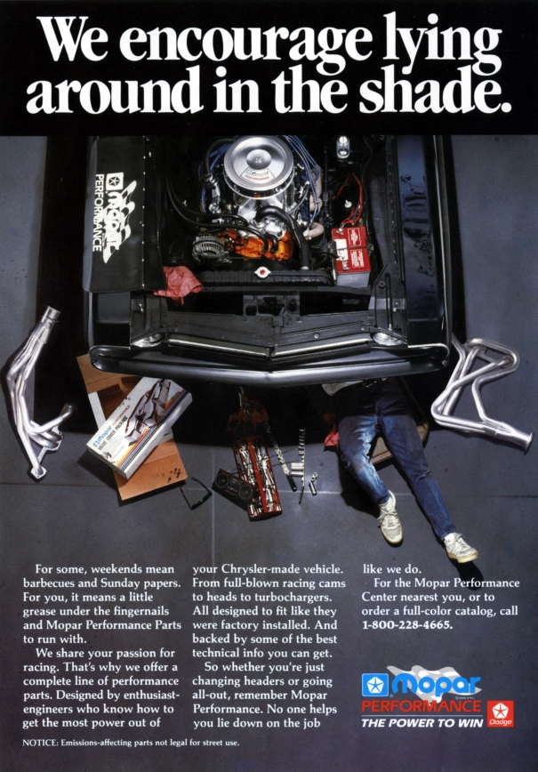 1989 Mopar Performance Ad