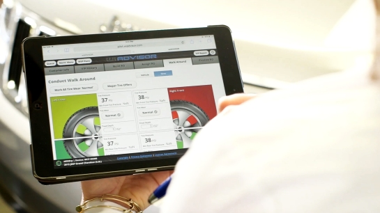 2012 - Mopar provides the first factory-connected tablet technology in the service lane via Mopar wiADVISOR.