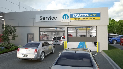 2008 - Mopar Express Lane service offering quick oil changes and more launches at dealerships.